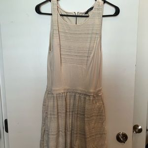 Tart Cream and Stripped Dress